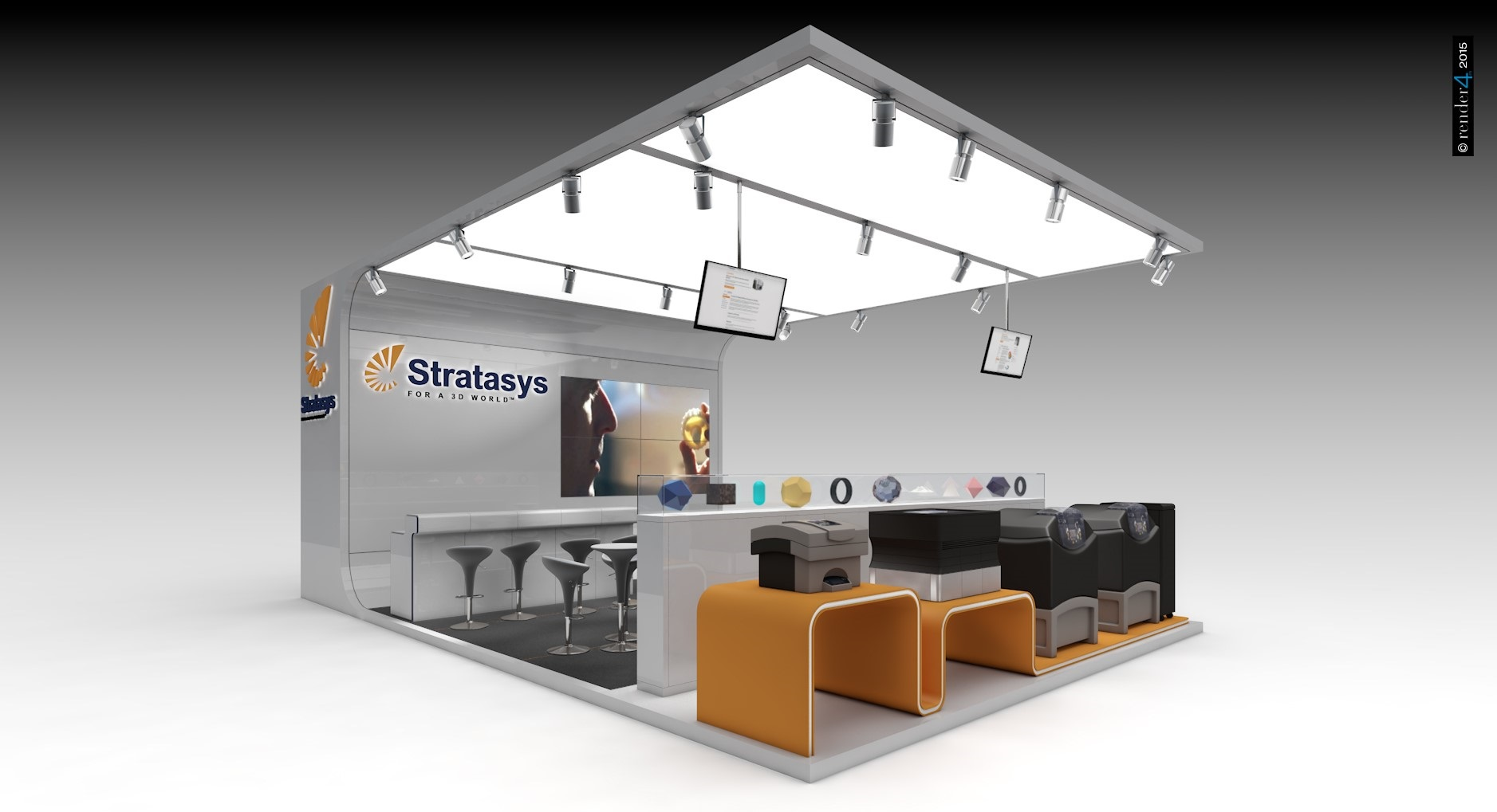 Exhibition booth - Designer booths - Design booth example 1