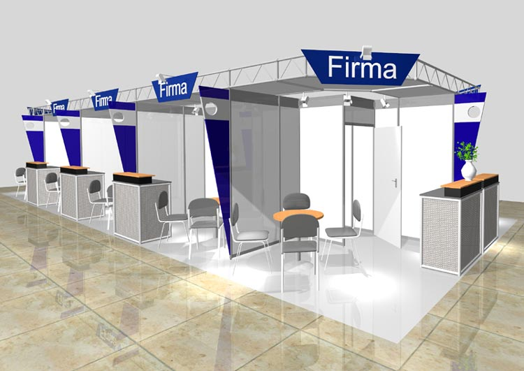 Exhibition booth - System booths - System booth example 1
