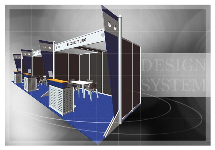 Exhibition booth - System booths - System booth example 2